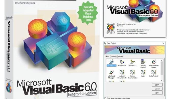 create any visual basic program
