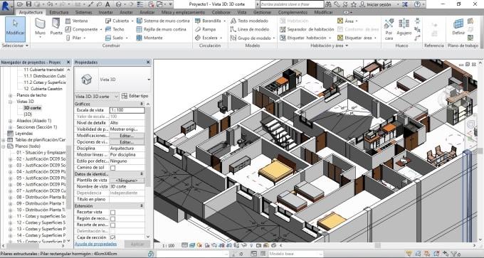 make 3d interior and exterior design with autodesk revit