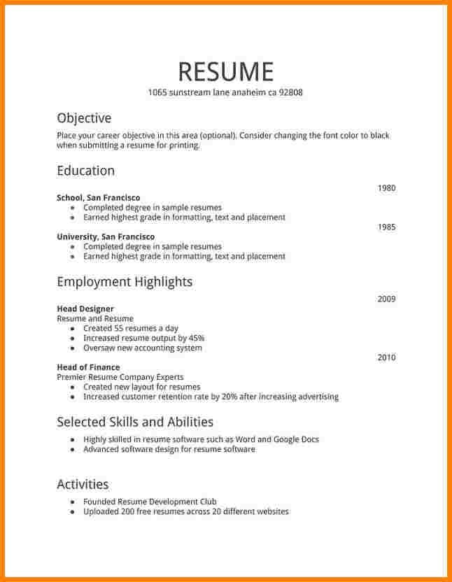 create an impressive resume by jennacarey82