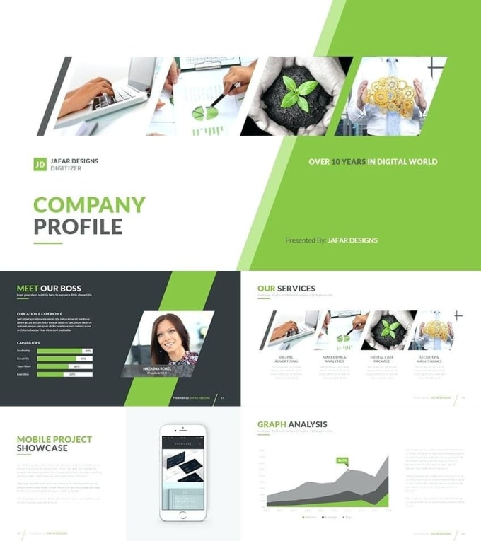 Write And Design A Professional Company Profile By