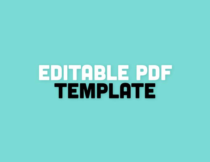 Create Editable Pdf Template By Jesikaway - How to make a pdf template editable