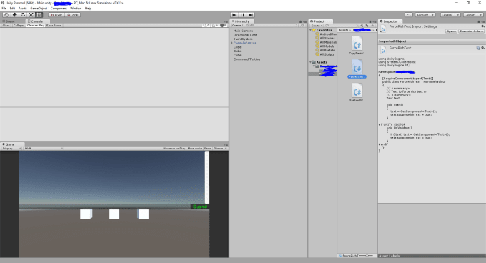debug and fix your unity scripts