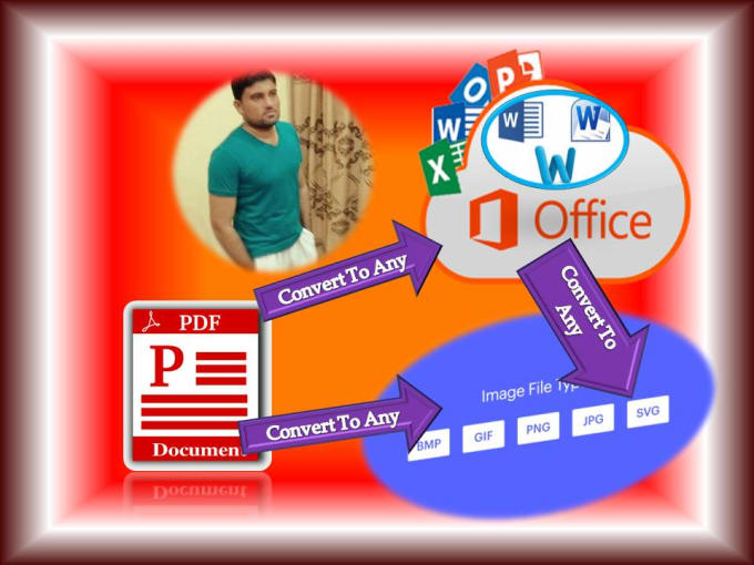 Do pdf to word excel powerpoint jpg document logo design by Ranaasif660