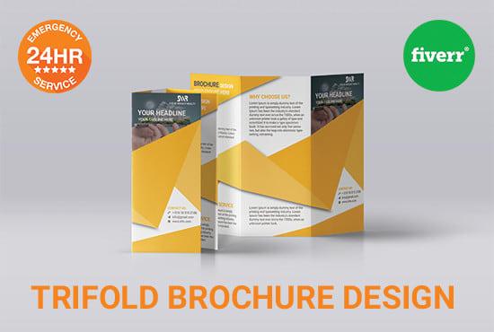 tri fold brochure design by nayanchandra23