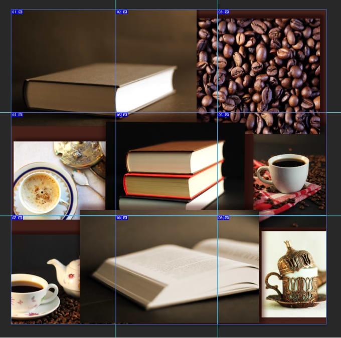 create trendy instagram puzzle split grids