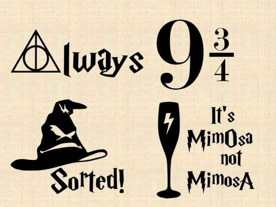 Download Send you four harry potter svg files to use on your cricut ...