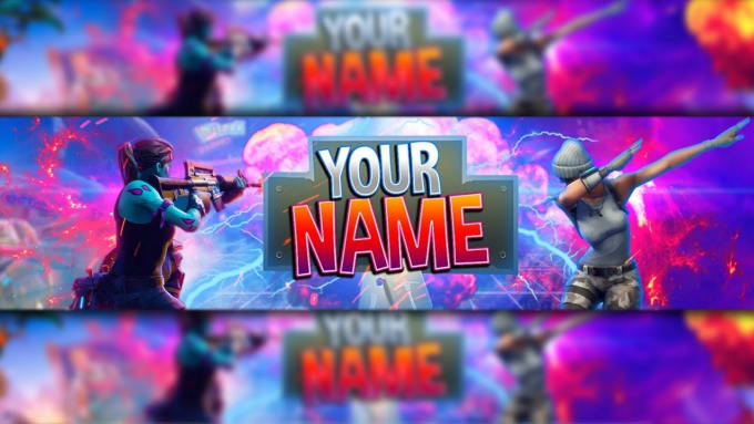 Create A Fortnite Or Other Youtube Banner And Logo By Avicity