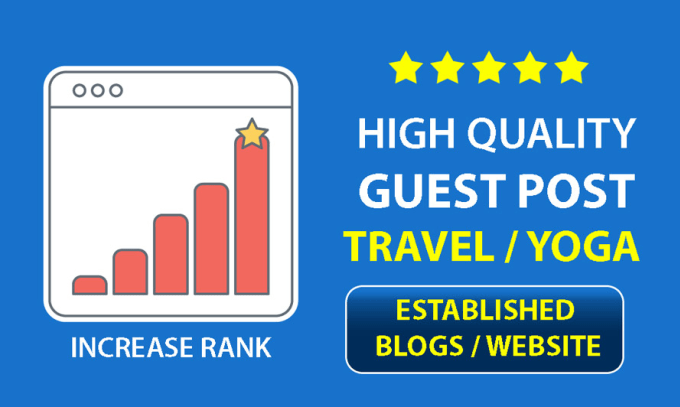 publish guest post on travel and yoga niche websites