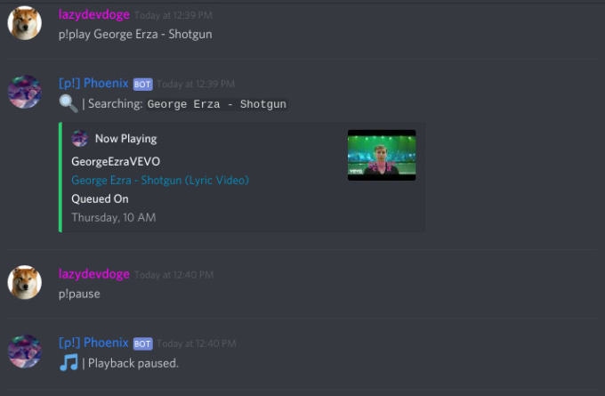 make a discord bot with some commands