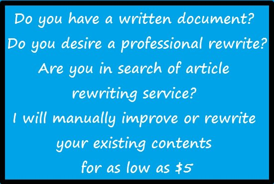 cheap article rewriting service