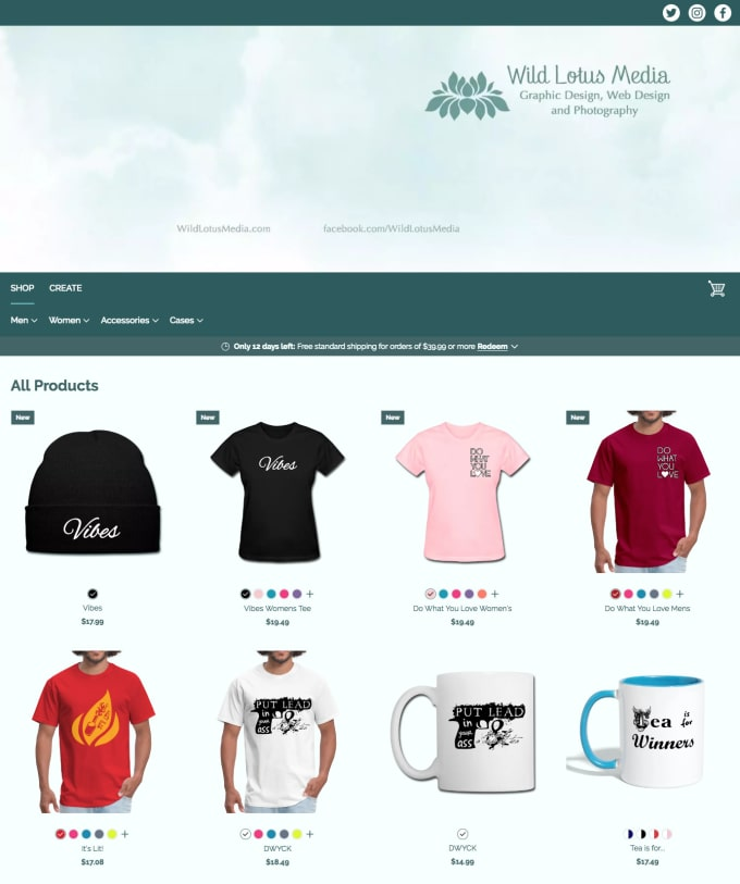 watch 4ccc1 55799 create you an online tshirt or merch store including custom product designs