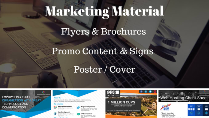create develop marketing material flyers promo cards by nickivey1