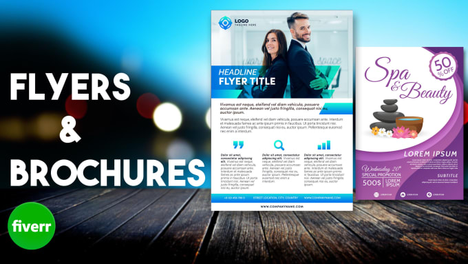 design professional flyers and brochures within 24 hours