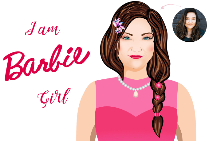 Draw You As A Barbie Doll Style Cartoon Fiverr