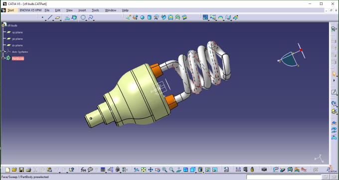 design parts and models through catia software