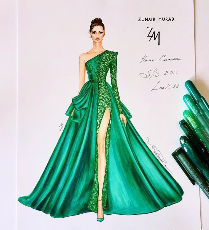 4b462c9112928 Design amazing dresses as you say by Saniakhan300