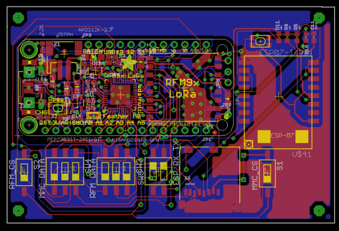 Create a pcb design with eagle or protues by Fadysarwat