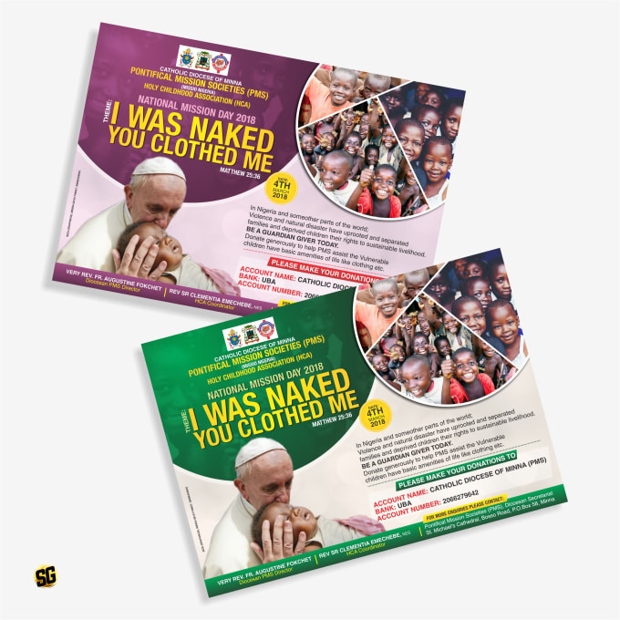 create distinctive church event or promotion flyer