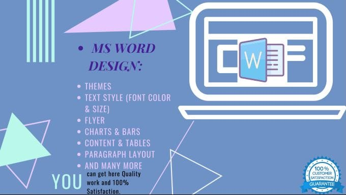 create and design your ms word and ppt docs by mujubhaii