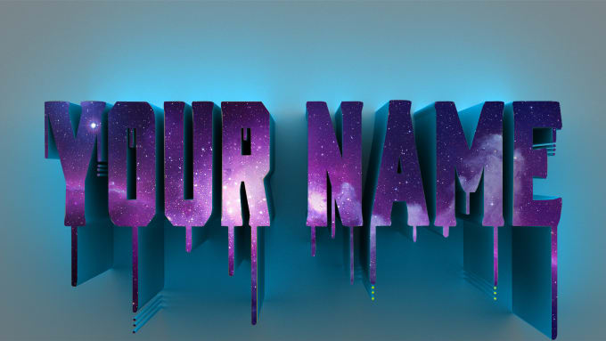 I will create your logo name wallpaper