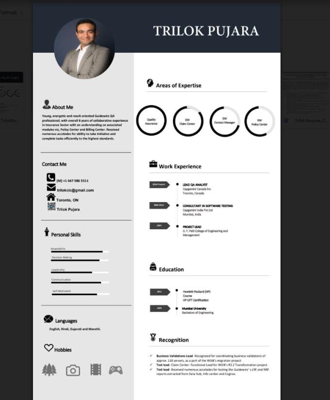 Make Your Resume Shine By Trilokpujara