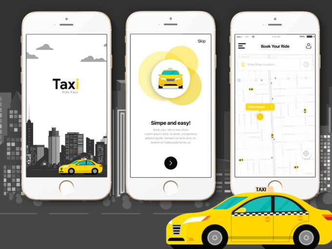 Develop Online Taxi Booking Car Sharing Car Pooling Features App