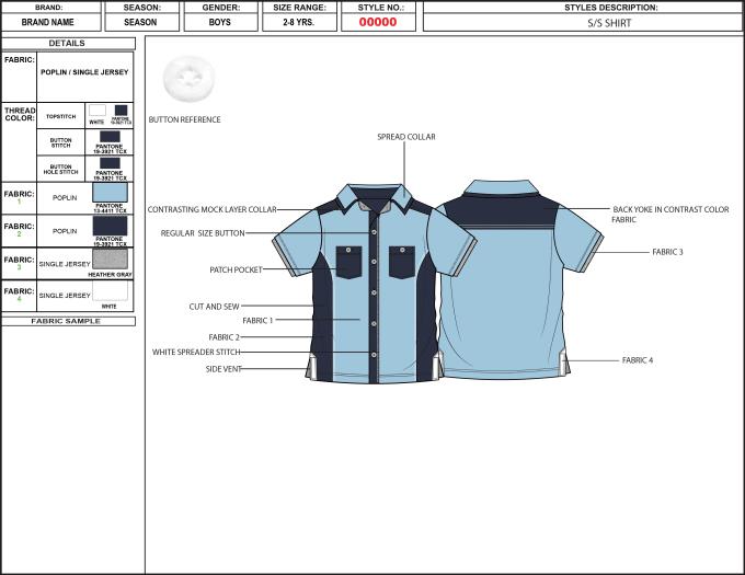 Create a fashion tech pack by Creativemindph