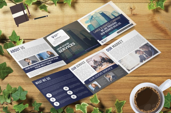 create modern trifold brochure design by creativeoz