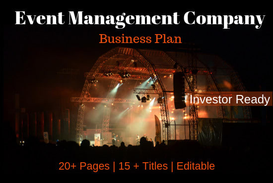 business plan for event management company