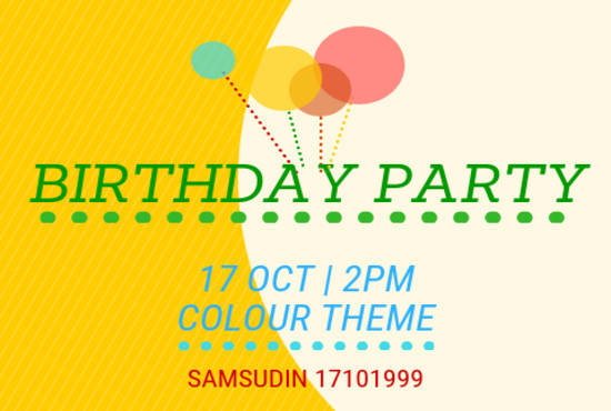 Design Simple And Colourful Invitation Card Within 24 Hours