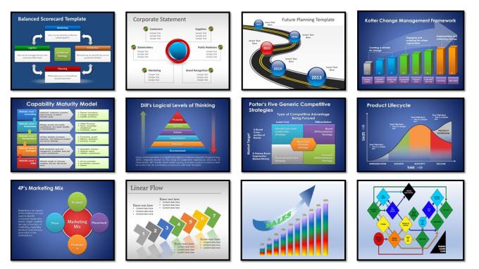 create modern branded powerpoint presentation keynote or