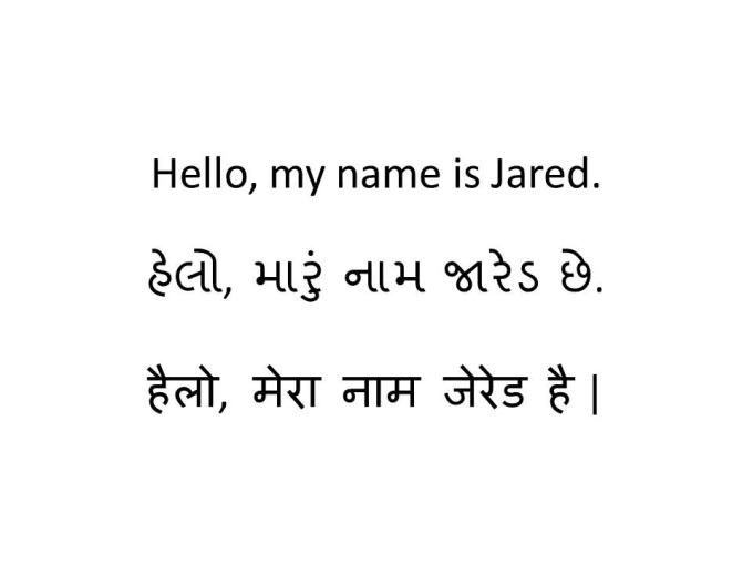 Translation And Typing In English Gujarati And Hindi