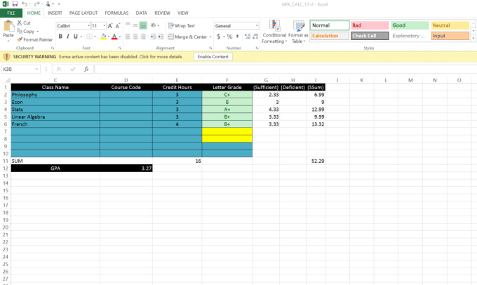 gpa calculator and stochastic value model excel sheets by