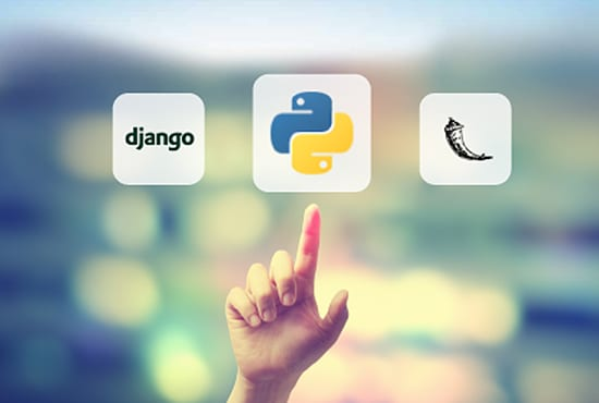 develop apps in python, django and flask