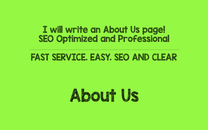 write a professional and SEO optimized about us page
