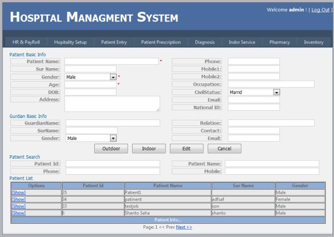 tkbarowi : I will develop a hospital management system for $990 on  www fiverr com