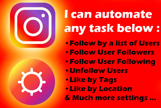 create a desktop app instagram bot for you to automate your tasks
