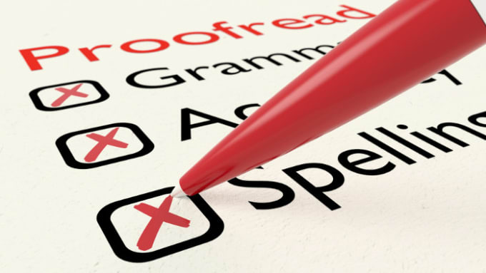 jgalaxyhype : I will proofread your script or any english assignments for  $25 on www fiverr com