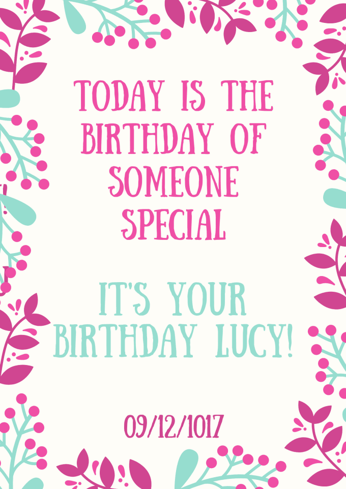I Will Send You A Personalized Birthday Card