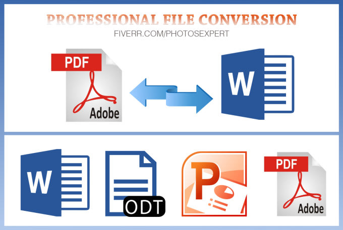convert PDF to ppt,word or excel and vice versa