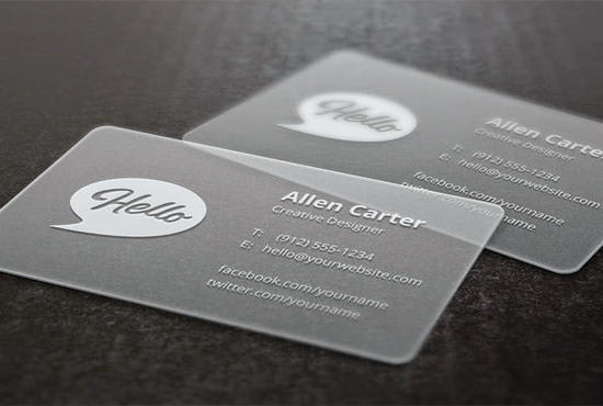 Do Pro Looking Transparent Business Card Template By Goodguyrelax