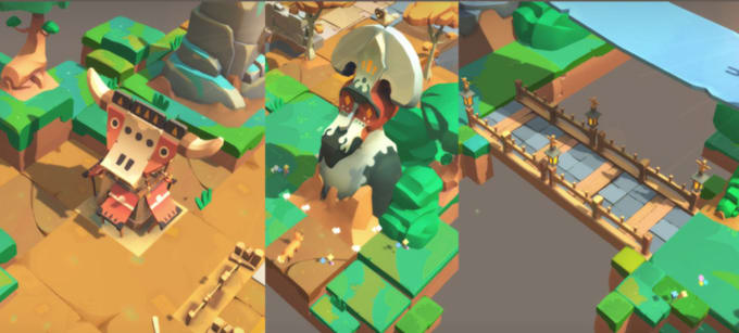 share unity assets or create low poly unity assets for you