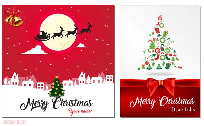 Christmas Greeting Cards Design.Design Christmas Birthday Greeting Cards