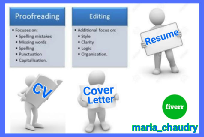 expertly proofread and edit your resume and cover letter by