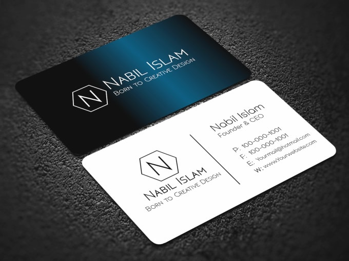 Design Fast Awesome Business Card Design With 6 Hours By Imnilpro