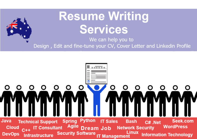 edit, write, design your IT cv, cover letter and linkedin