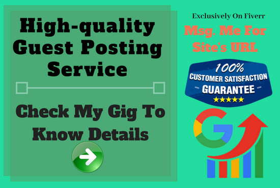 provide high quality guest posting service