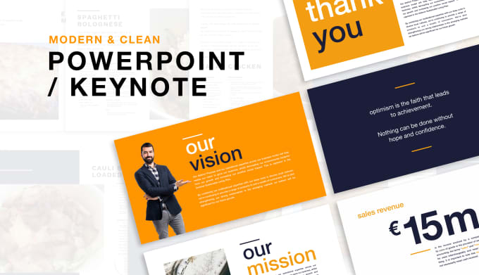 design a modern keynote or powerpoint presentation