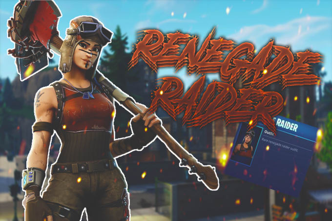 3d Fortnite Thumbnail Renegade Raider Epic Games Free V Bucks Special Event