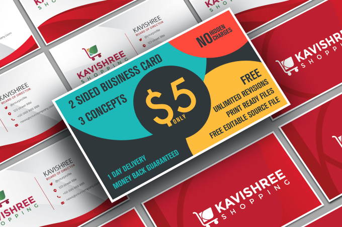 Design 3 Custom Double Sided Business Card In 24 Hours By Priya1995